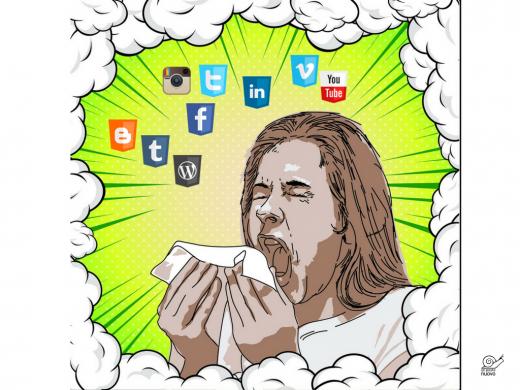 starnuto più nuvola di social