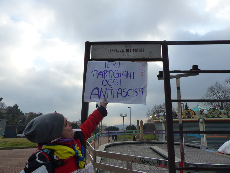 Manifestazione antifascista e antirazzista Macerata 10 Febbraio 2018